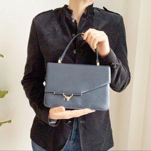 Vintage Koret Blue Leather Unique Purse Handbag